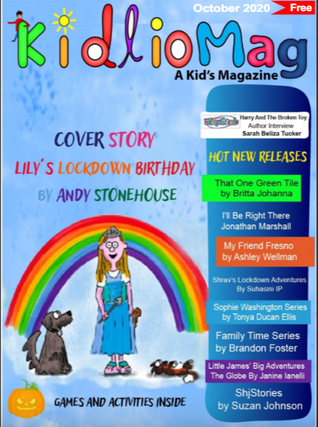 Andy Stonehouse on the cover of KidlioMag!
